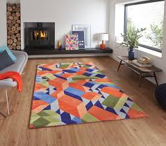 designer wool area rugs designer wool blend geometric rug adam daly multi colour modern