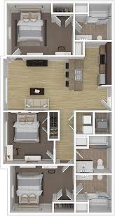 Floor Plans For Flats Notre Dame 3 Bedroom Fully Furnished Student Apartments For Rent