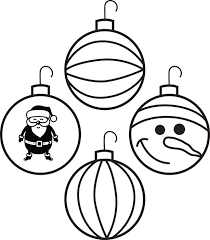coloring page of christmas oramenst coloring page