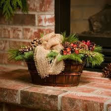 country christmas centerpieces burlap basket fresh christmas wreaths centerpieces