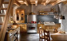 kitchen ancient kitchen with stone walls and oil paintings also