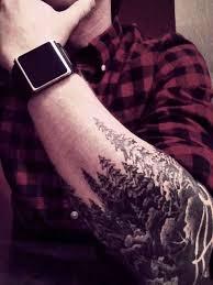 pine tree arm tattoomagz