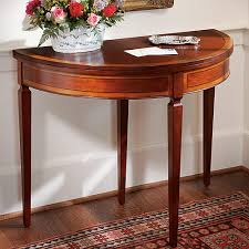 demi lune card table