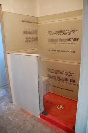Do It Yourself Bathroom Remodel Ideas Diy Walk In Shower Step 2 Lining We May Need This If When We