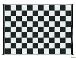 Awning Mats Camco Awning Reversible Outdoor Patio Mat 9x12 Checkered Black Wh