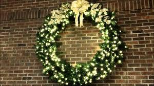 beautiful led lit christmas wreath youtube