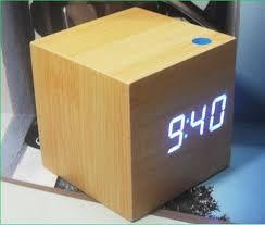Wood Desk Clock 2017 Blue Led Wood Desk Clock Home Digital Alarm Clock Table Clock