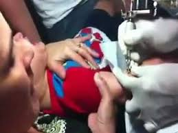 child abuse giving baby boy a