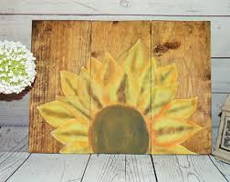 Sunflower Themed Bedroom Sunflower Art Etsy