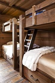 cabin bunk bed ideas bedroom rustic with guest room lake house