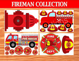 fireman birthday fire fighter photo booth props fireman party