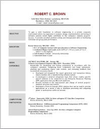 A Good Resume Example by An Objective For A Resume Berathen Com