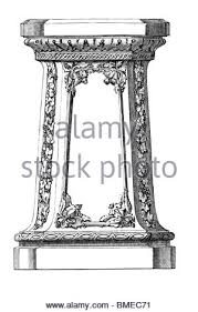 Dictionary Pedestal Old Engraved Illustration Of Pedestal Isolated On A White