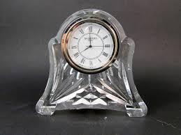 Amazon Mantle Clock Waterford Abbey Clock Lead Crystal Mantel Clock Mantel Clocks