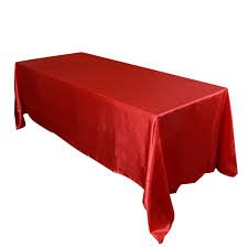 90 X 132 Tablecloth Fits What Size Table by Red 90 X 132 Satin Rectangle Tablecloth Tablecloths Pinterest