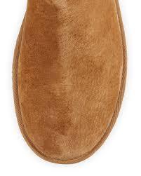 ugg australia leather buckle mid ugg beckham buckle shearling cuffed boot chestnut neiman