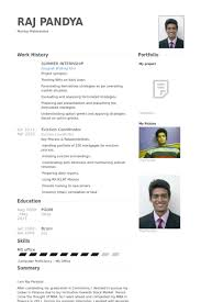 Intern Resume Example by Summer Intern Resume Samples Visualcv Resume Samples Database