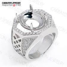 aliexpress buy mens rings black precious stones real buy silver ring without for men and get free shipping on