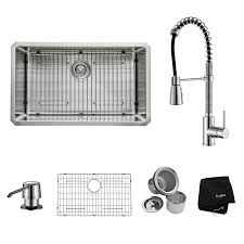 Kitchen Sink And Faucet Sets Kraus Khu100 30 Kpf1612 Ksd30ch 30 Inch Undermount Single Bowl