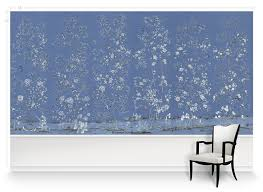 paul montgomery wallpaper palace garden blue mural wallpaper