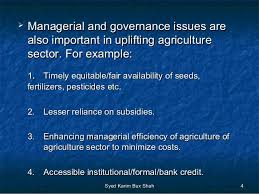 Formal Credit Policy Agriculture Pricing Policy And Agriculture Credit