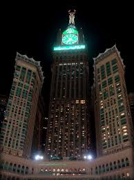 the abraj al bait towers or mecca royal hotel clock tower 601m