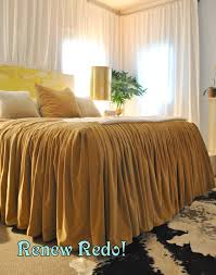 how to make a bed like a pro renew redo ruffled velvet bed cover how to