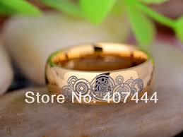 doctor who wedding ring ygk jewelry 8mm golden dome doctor who time new men s tungsten