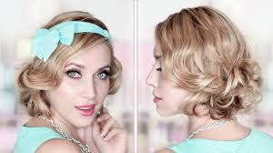 party prom wedding updo curly bob medium long hair tutorial