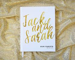wedding guest keepsakes gold wedding guest book personalized book custom faux foil