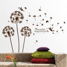 removable wall decals for living room living room wall decals aliexpresscom buy removable pvc dandelion wall stickers living