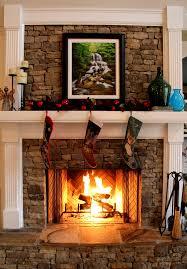 stack stone fireplace interiors design
