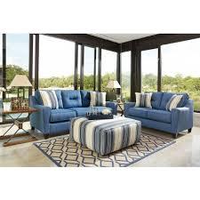 Blue Living Room Set Sofia Vergara Monaco Court Navy 7 Pc Living Room Blue Set