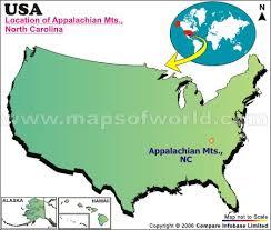 carolina world map where is appalachian mountains located in carolina usa