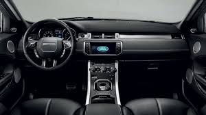 white land rover interior range rover evoque