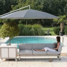 outdoor u0026 garden green offset umbrella with metal crank and tilt