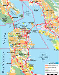 Map Of San Francisco Airport by San Francisco California Map