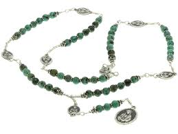 seven sorrows rosary sterling silver 7 sorrows rosary necklace turquoise 7 sorrows