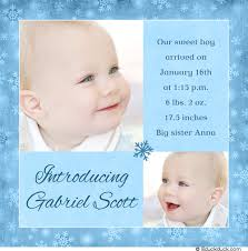 baby announcement wording modern blue birth announcement two photo baby boy