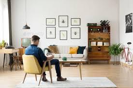 retro living room man in retro living room stock photo by bialasiewicz photodune