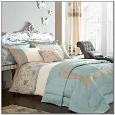 marvelous beige blue white bedding set with mirrored bonn style