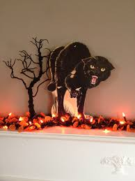 vintage halloween cat scary cat decoration spooky cat halloween
