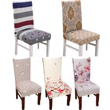 dining chair seat covers 1pc spandex elastic flower printing chair protective slipcover