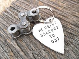 motocross jersey custom dirt bike racing keychain my heart belongs to jersey