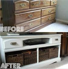How To Fix A Cabinet Drawer Repurposed Dresser Remove Drawers Replace W Baskets Makes A