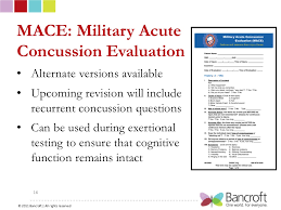 mace military acute concussion evaluation