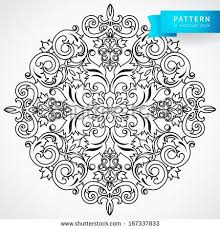 vector baroque ornament in style ornate element for