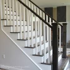 Wooden Stair Banisters Best 25 Painted Stair Railings Ideas On Pinterest Railings