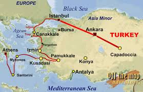Delphi Greece Map by Map Of Turkey And Greece
