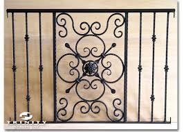 Decorative Iron Railing Panels Custom Iron Panelstrinity Stairs